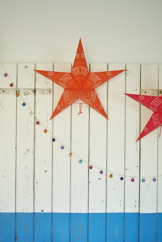 shining stars & bright baubles by wood & wool stool