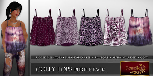 DANIELLE Colly Tops Purple Pack