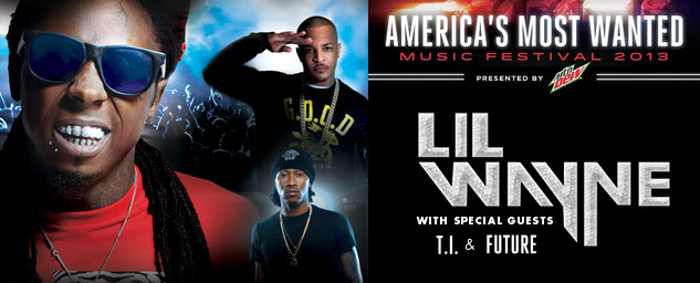 America's Most Wanted Music Festival 2013 presented by Mountain Dew / Lil Wayne with special guests T.I. & Future