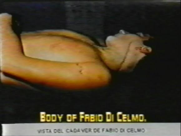 Fotografía del cadáver de Fabio di Celmo presentada en el juicio contra Posada Carriles, en El Paso.
