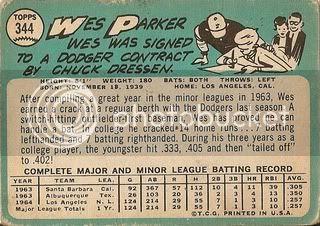 #344 Wes Parker (back)