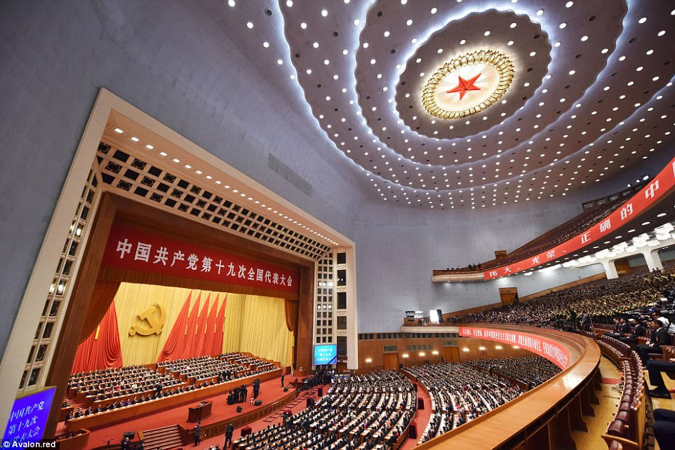 Great Hall of the People: China opens the 19th National Congress - decisions will be formally announced the end of next week