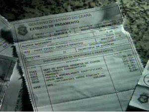 Extratos comprovam depósitos em conta de falecida (Foto: TV Verdes Mares/Reprodução)