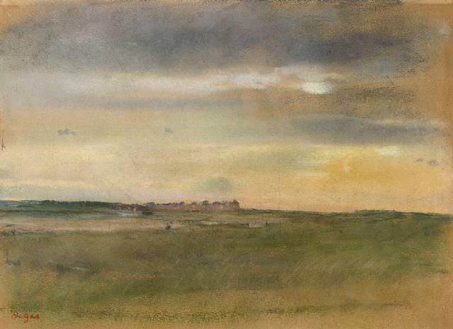 Edgar Degas, Coastal Landscape at Sunset