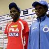 Atletas africanos durante a entrevista coletiva na véspera da São Silvestre