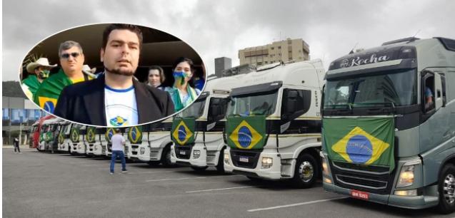 Contra o STF, bolsonaristas declaram greve de caminhoneiros
