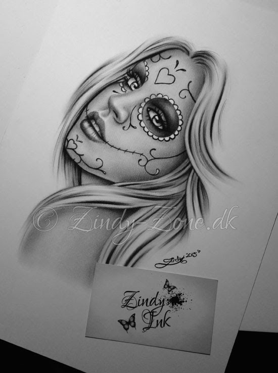 Day Of The Dead Girl Zindy Ink Tattoo Artist Illustrator