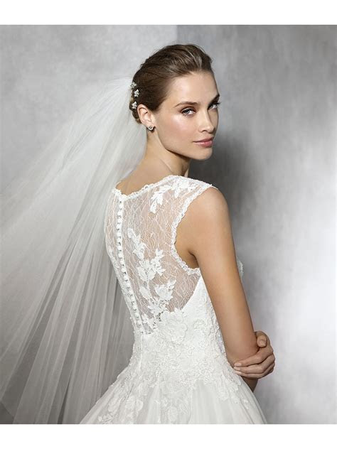 Romantic Ball Gown Lace Bridal Gowns Wedding Dresses 2102128