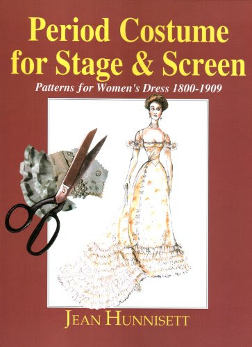 "Cover for ""Period Costumes for Stage and Screen"" by Jean Hunnisett."