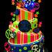 Topsy Turvy Sports Cake