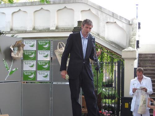 Zac Goldsmith at Greener Kew launch party - Kew Gardens Station