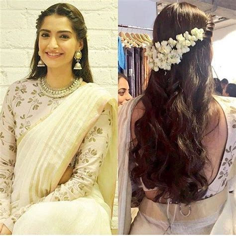 These Hair styles that go well with saree!!   Makeup