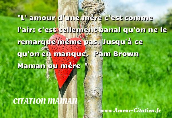 Citation Maman Amour