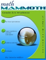cover for Math Mammoth Grade 5-A Complete Worktext