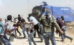 (تصاویر) درگیری پلیسترکیه با آوارگان بیدفاع
