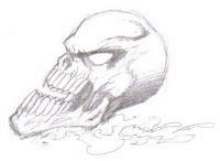 A Screaming Skull Design