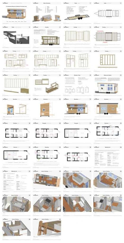 Tiny House On Wheels Floor Plans Pdf For Construction The Tiny Project