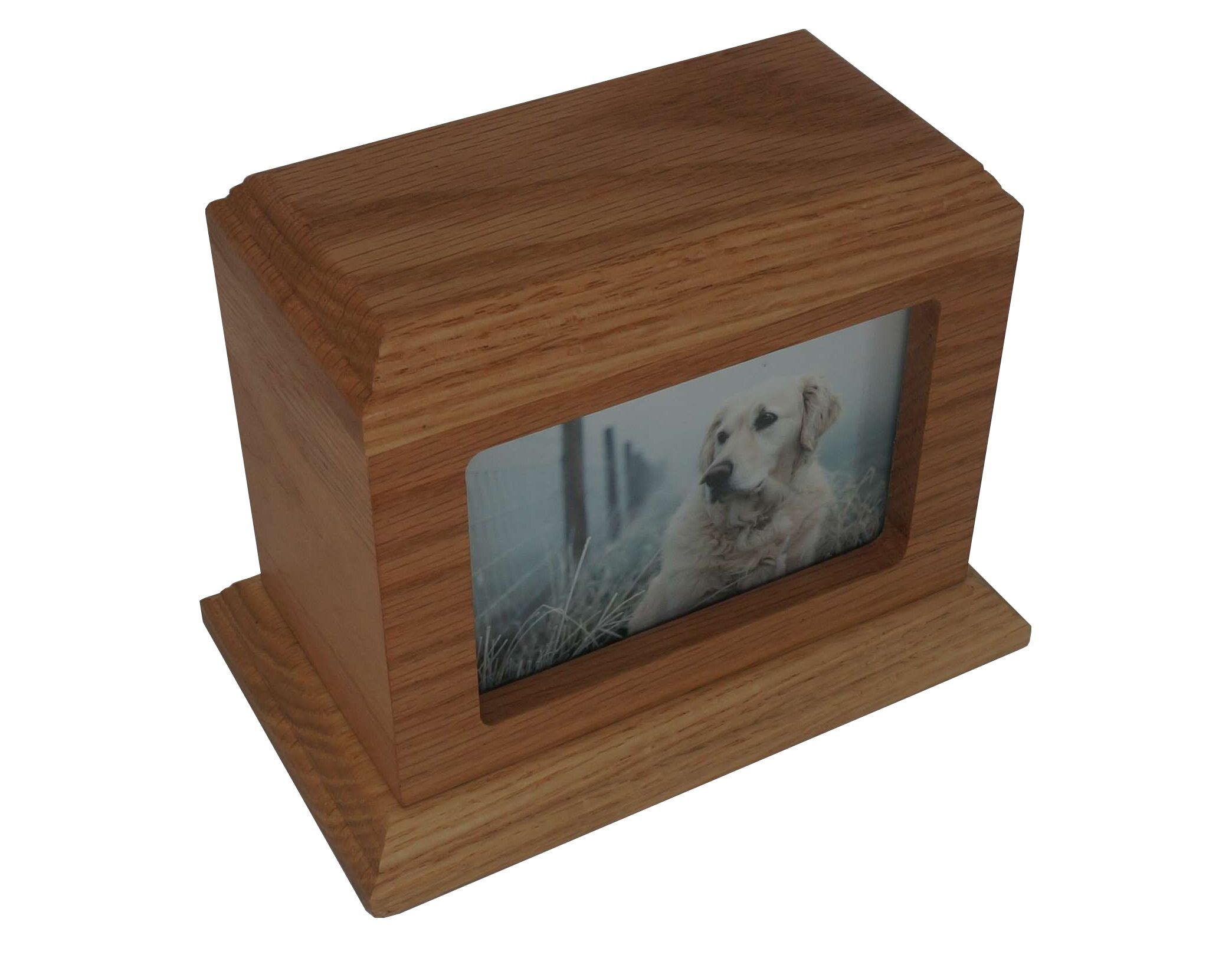 Py15 3 X 5 Photo Frame Traditional Picture Pet Urn Oak Birch