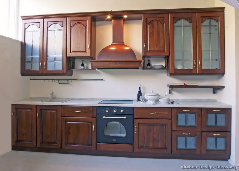 Home Architec Ideas Kitchen Wooden Cabinets Design With Chimney