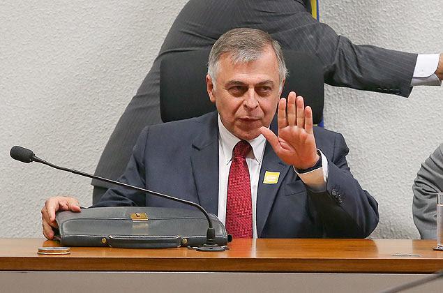 O ex-diretor da Petrobras Paulo Roberto da Costa durante depoimento na CPI da Petrobras no Senado