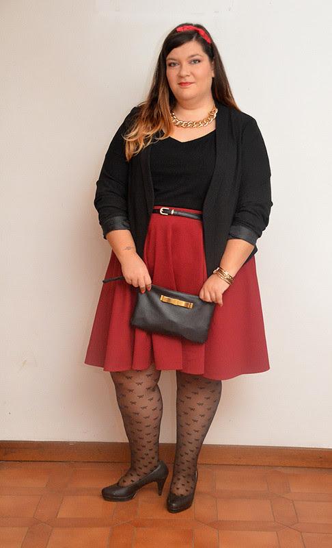 outfit borgogna e nero6