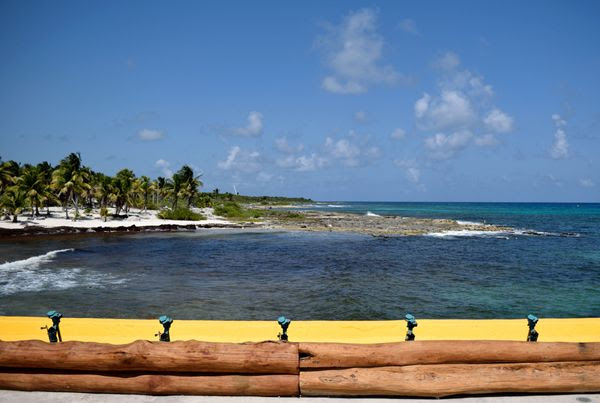 A snapshot of the pristine water off the shore of Costa Maya, Mexico, on March 21, 2018.