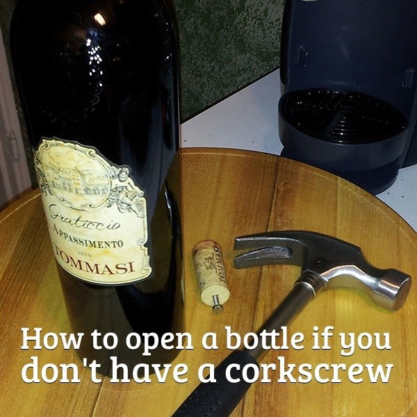 52 How to open a bottle if you dont have a corkscrew.