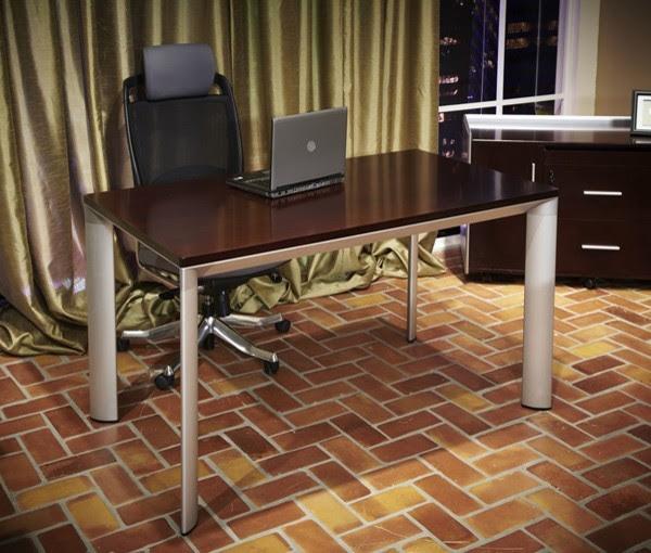 AICO Furniture - Prevue Executive Desk in Auburn - 16607-20