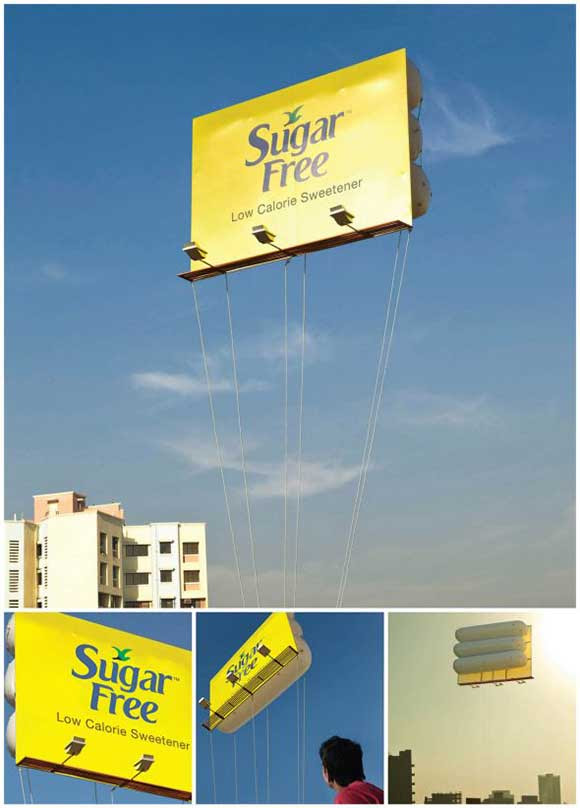Sugar Free: Floating Billboard ad