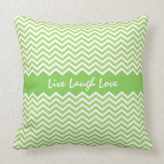 Spring green chevron zigzag pattern custom pillow throwpillow