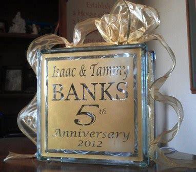 Glass Blocks; Anniversary Gift; Anniversary Glass Block