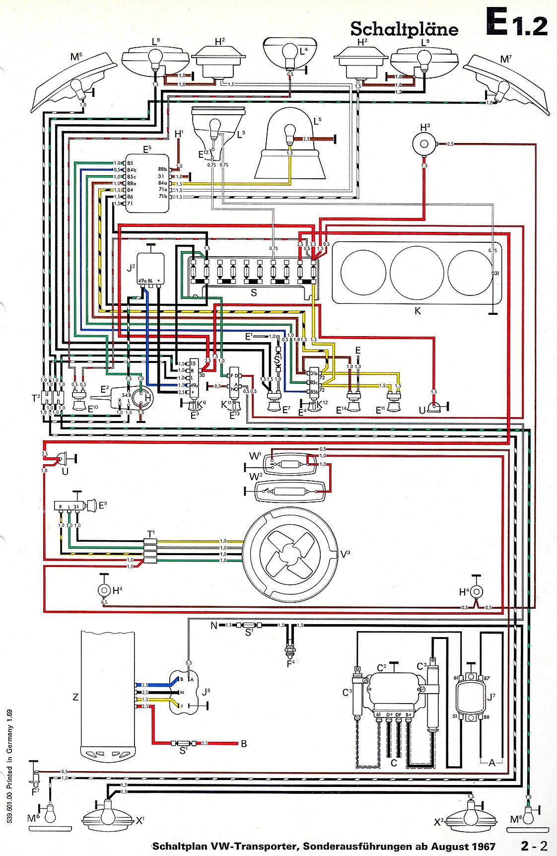 C41bbb 1968 69 Bus Wiring Diagram Thegoldenbug Wiring Library