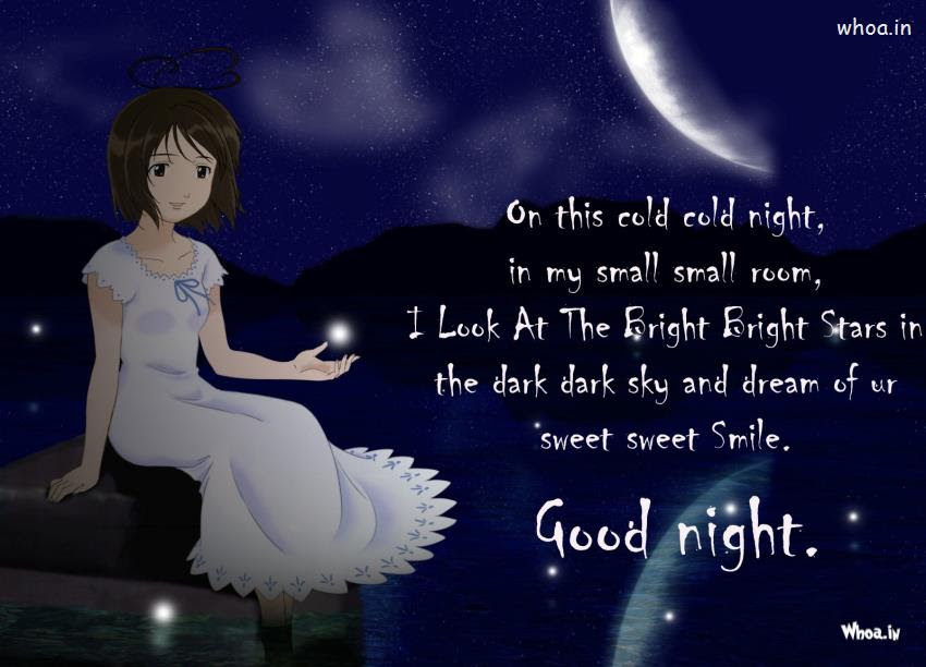 Good Night With Sweet Dream Quotes Hd Wallpaper