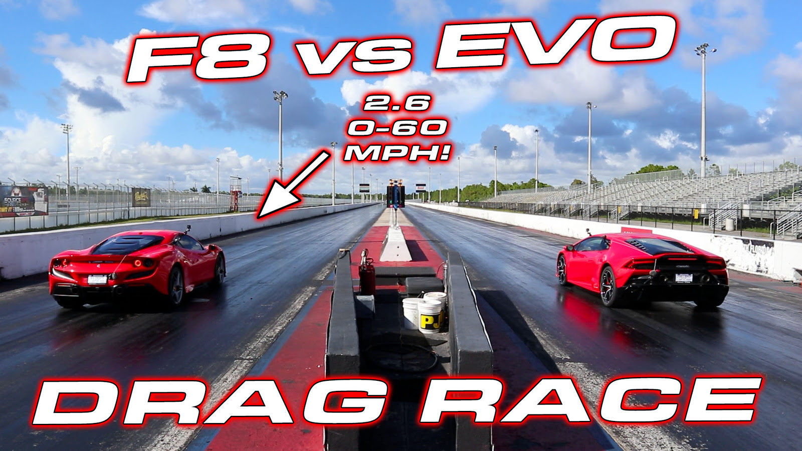 Stock 2020 Ferrari F8 Tributo 1/4 mile Drag Racing ...