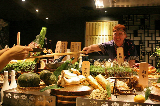 Chef Yamamoto from Osaka heads the Robata operations at Mikuni