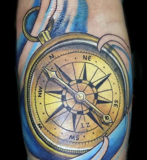 70 Compass Tattoo Designs For Men An Exploration Of Ideas