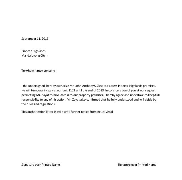 Rd News: Authorization Letter