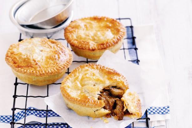 Individual Chunky Beef Pies Recipe - Taste.com.au