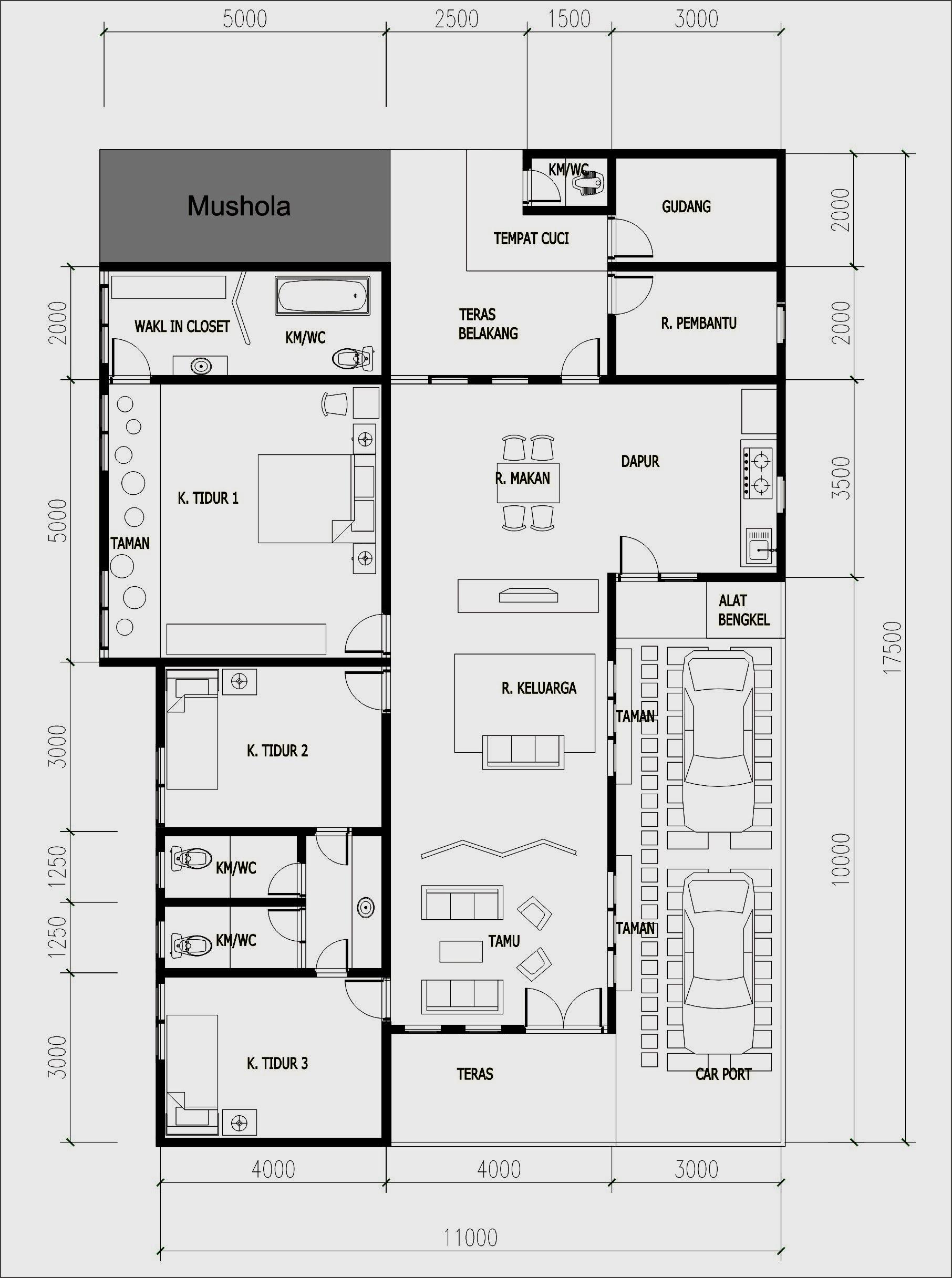 Desain Denah Rumah Sederhana