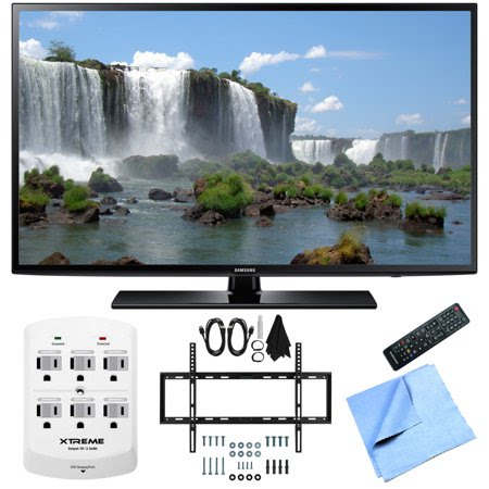 Samsung UN50J6200 50-Inch Full HD 1080p 120hz LED HDTV Slim Flat Wall Mount Bundle includes 50-Inch Full HD TV, Slim Flat Wall Mount Bundle, 6 Outlet Wall Tap w\/ 2 USB Ports and Beach Camera Cloth