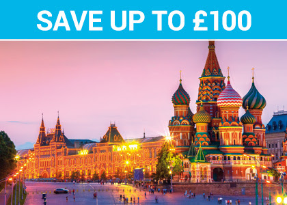 Save up to £100 - Moscow to St Petersburg