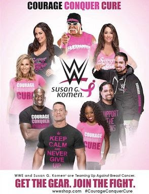 Monday Night Raw Raises Breast Cancer Awareness