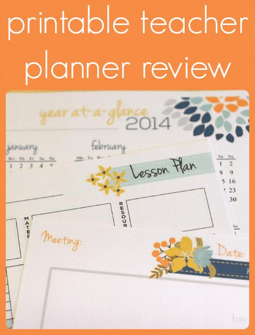 Printable Teacher Planner Review - Fun-A-Day!