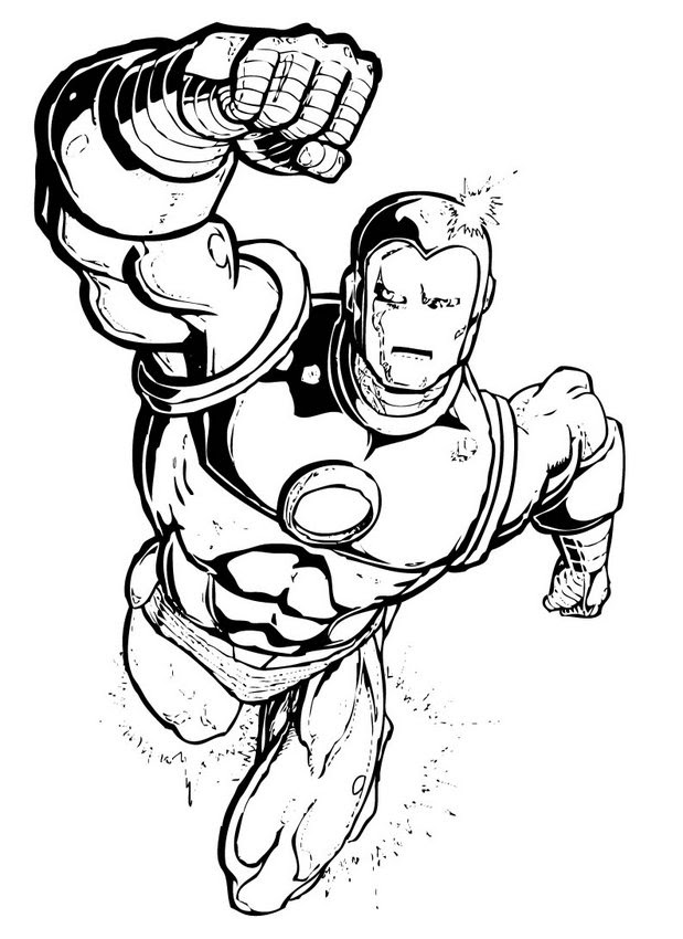 Coloring Iron Man Hd Football