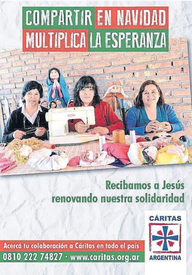 Uno de los afiches de Cáritas que nos convocan a superar la exclusión