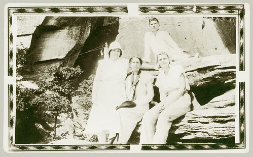Four on a rock