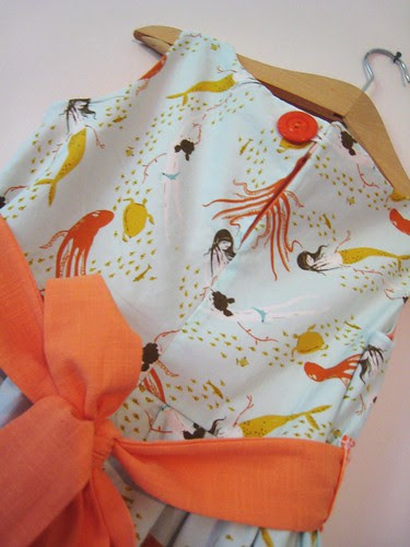 mermaid party frock button
