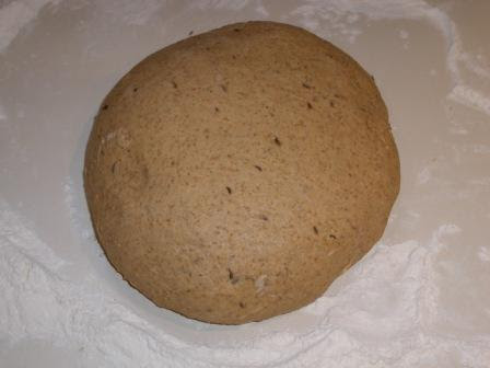 Dark Onion Rye Firm Dough Ball