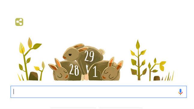 Google homenatja l'any bixest amb el seu 'doodle'