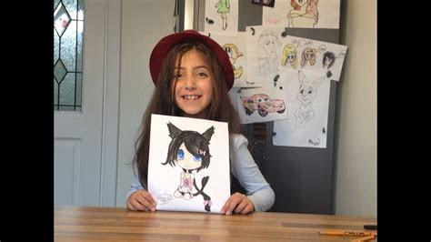 Anime Drawings Cat Girl